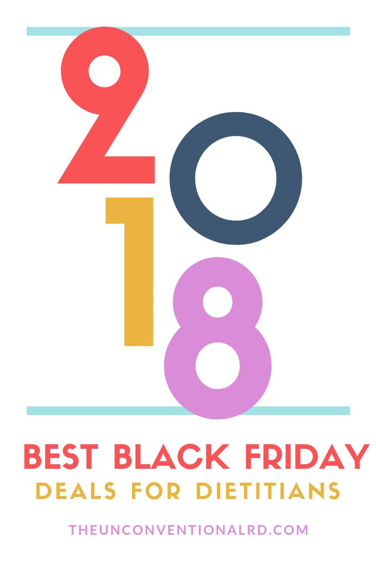 2018 Best Black Friday Deals for Dietitians