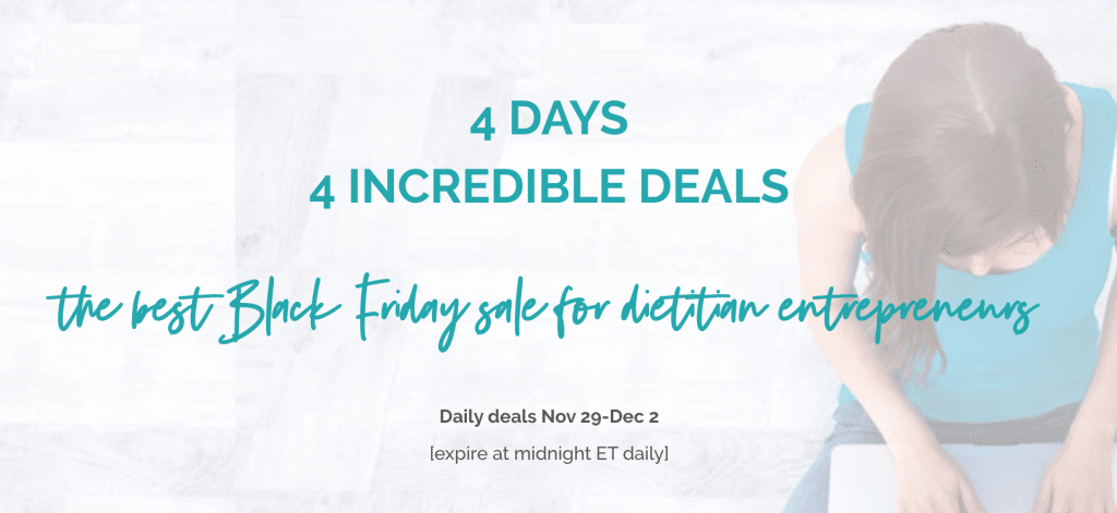 Dietitian HQ Black Friday Deal