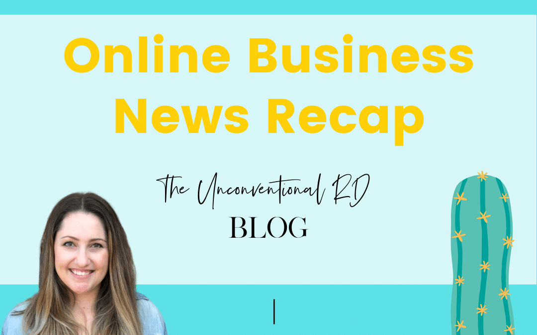 Online Business Recap Jan 19th -25th