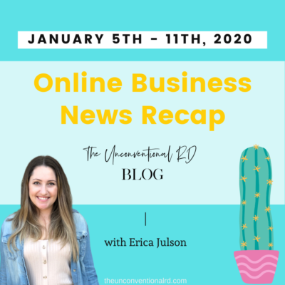 Online Business News Recap: January 5th – 11th, 2020