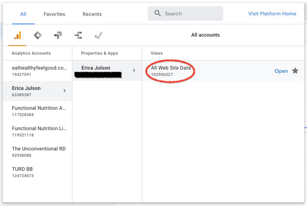 Select All Website Data