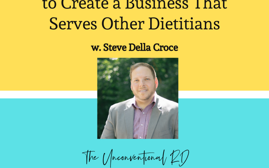 TURD011 Thinking Outside the Box to Create a Business That Serves Other Dietitians with Steve Della Croce - Blog Graphic