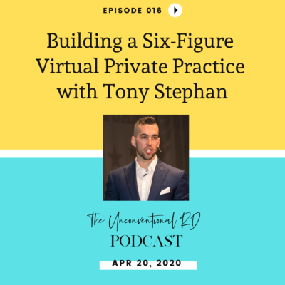 #016: Building a Six-Figure Virtual Private Practice with Tony Stephan