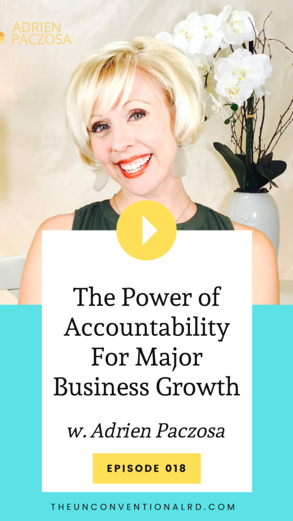 Adrien Paczosa shares her best advice for staying accountable as a business owner.
