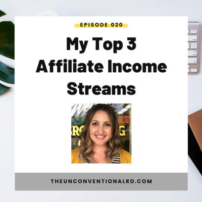 #20: My Top 3 Affiliate Income Streams