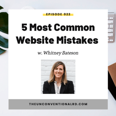 #022: 5 Most Common Website Mistakes (and what to do instead)
