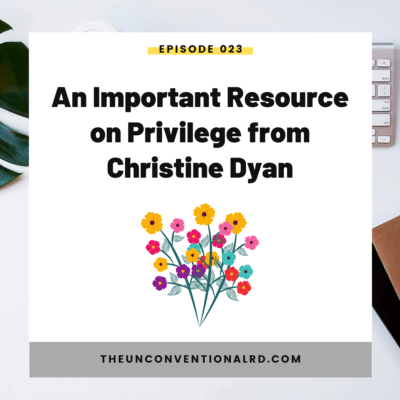 #023: An Important Resource on Privilege from Christine Dyan