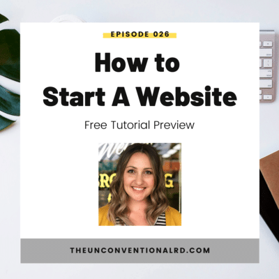 #026: How to Start a Website: Free Tutorial Preview