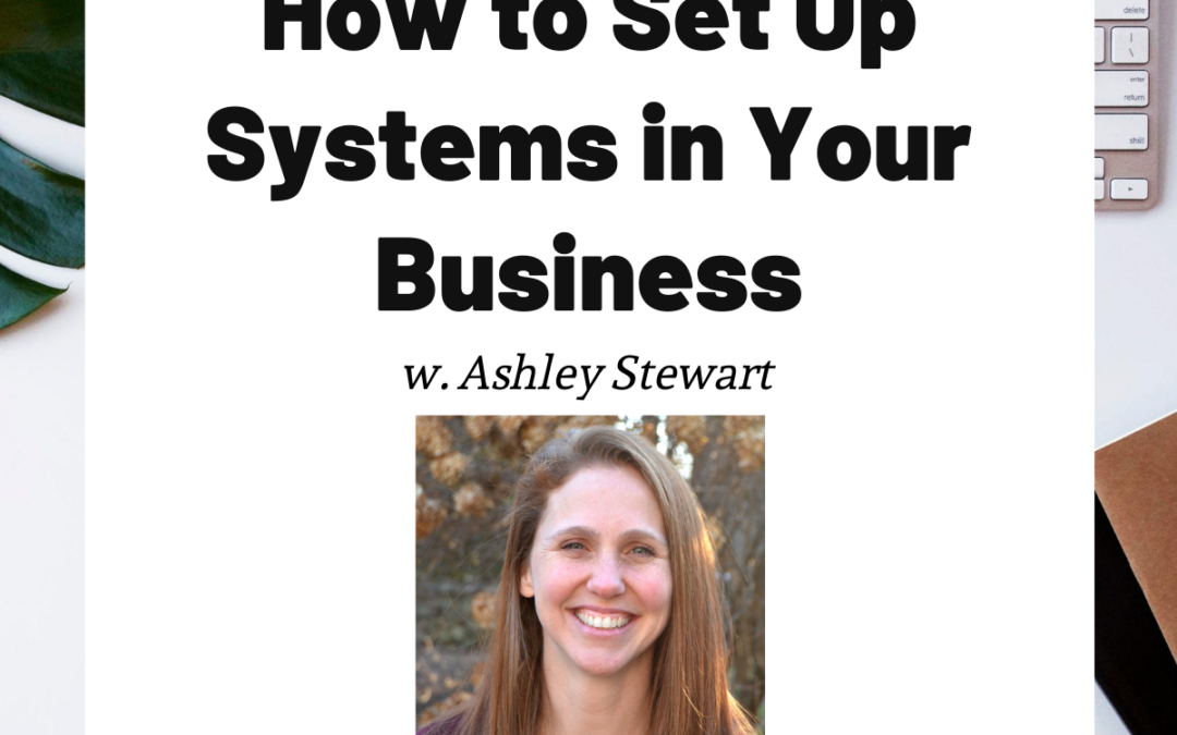 TURD033 How to Set Up Systems in Your Business - Ashley Stewart