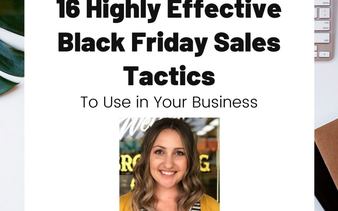 TURD041 16 Highly Effective Black Friday Sales Tactics
