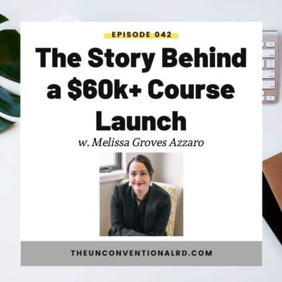 #042: The Story Behind a Successful $60k+ Course Launch with Melissa Groves Azzaro