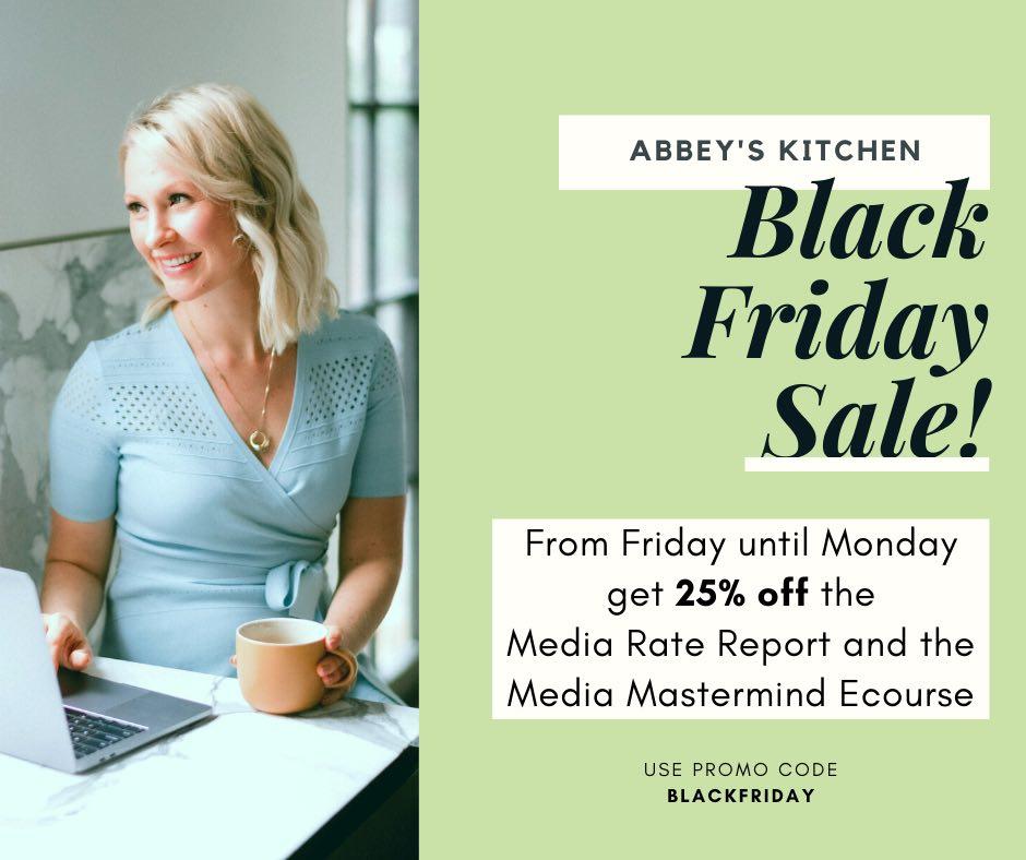 Abbey's Kitchen Black Friday Sale 2020
