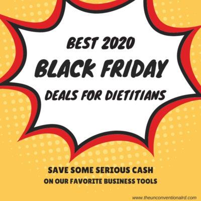 Best Black Friday Deals for Dietitians