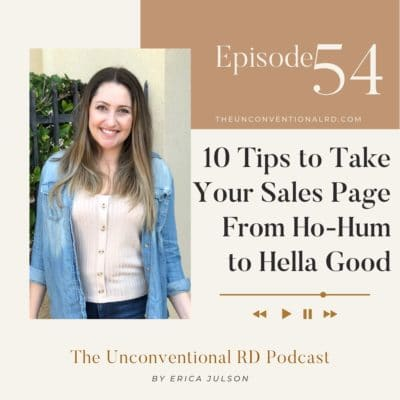 #054: 10 Tips to Take Your Sales Page From Ho-Hum to Hella Good