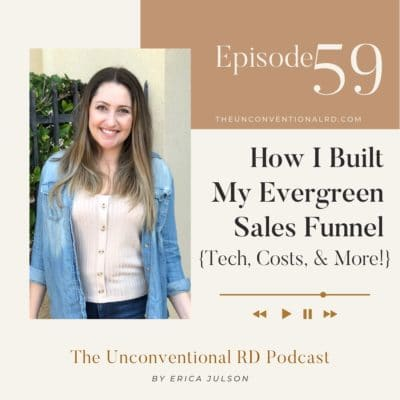 #59: How I Built My Evergreen Sales Funnel {Tech, Costs, & More!}
