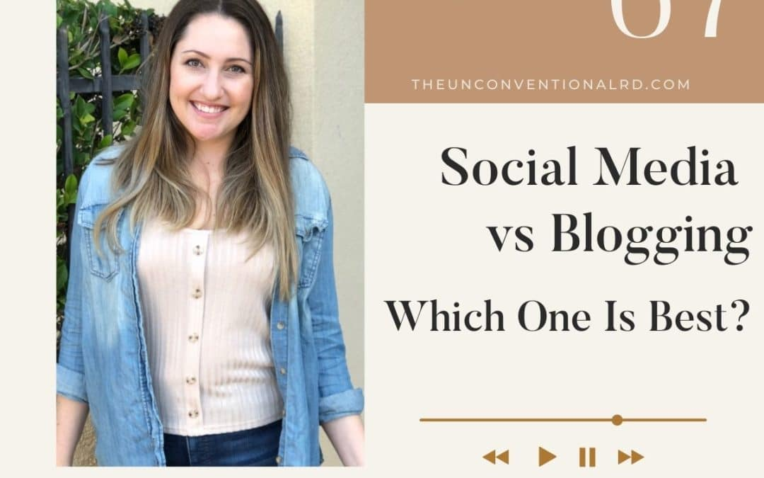 The Unconventional RD Podcast Episode 67 - Social Media vs Blogging